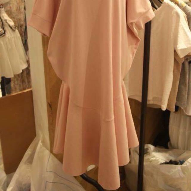 徵收 連身長版one piece 洋裝 魚尾 荷葉波浪裙擺
