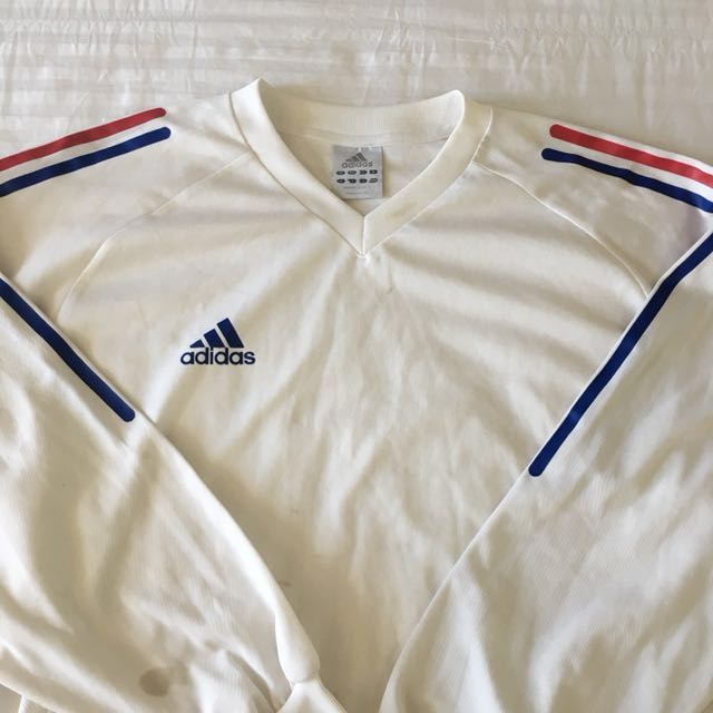 Adidas white long sleeves