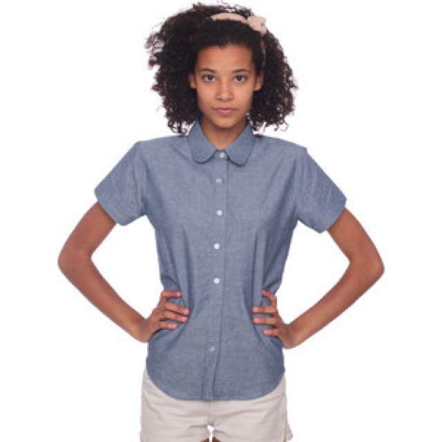 American Apparel Chambray Shirt Size S