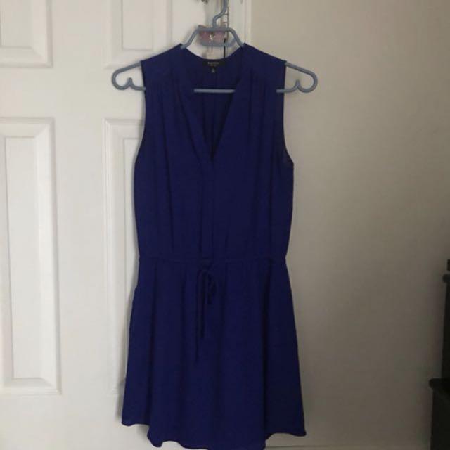 Aritzia Babaton indigo blue silk dress x-small