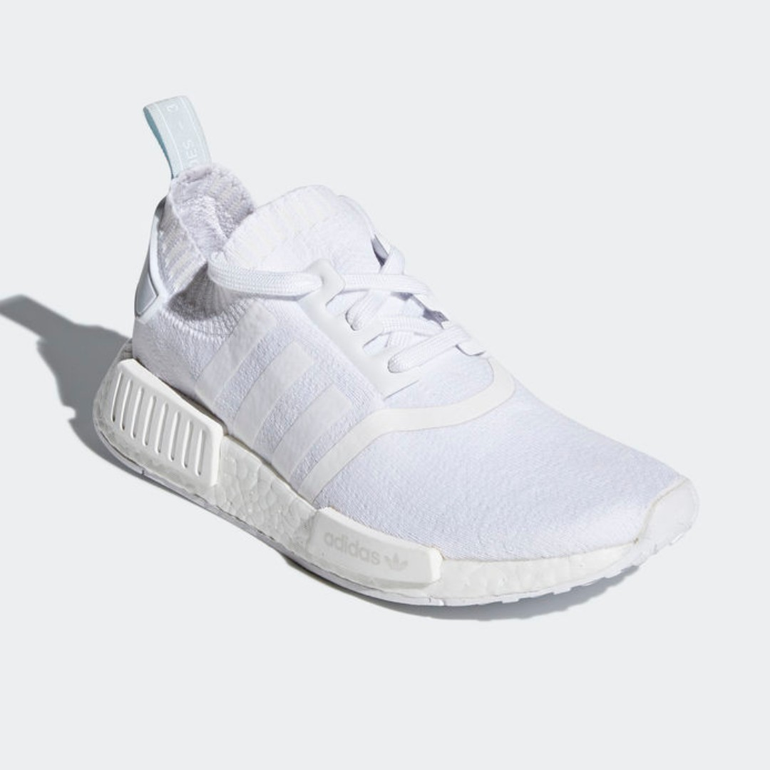 f4b77aec1bef1 Authentic Adidas Women s Originals NMD R1 Primeknit White   Blue ...