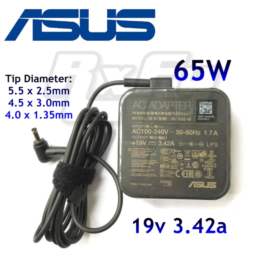 Authentic ASUS 65W AC Power Supply Adapter Wall Charger 19V 342A