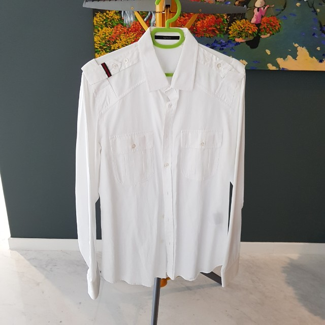 ed131f579 Authentic Gucci White Shirt, Men's Fashion, Clothes on Carousell