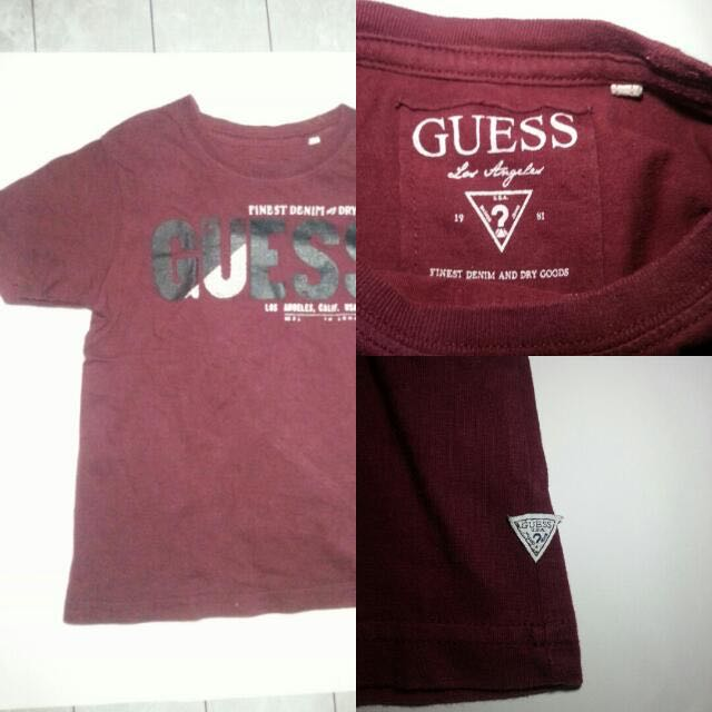 0bbc3415380751 Authentic Guess Kid's Tee, Babies & Kids, Boys' Apparel on Carousell