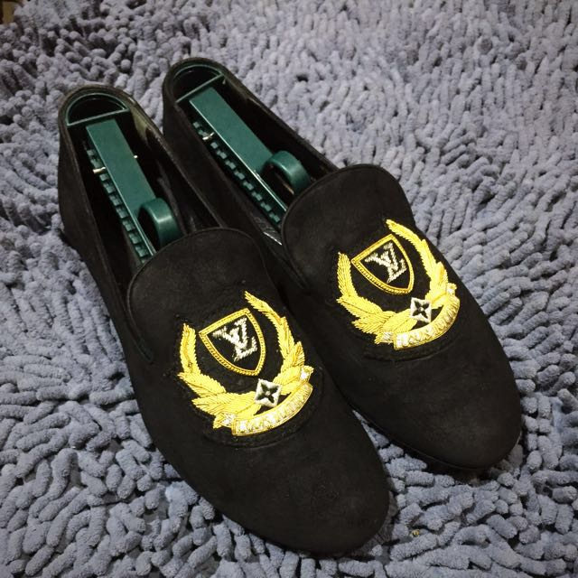 AUTHENTIC LOUIS VUITTON SLIPPER SHOES FLATS LOAFERS