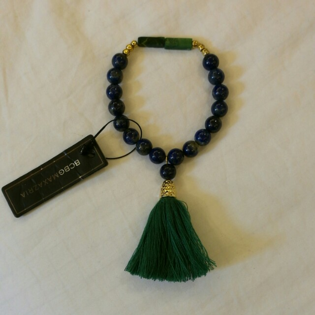 BCBG Beaded Bracelet with Tassel