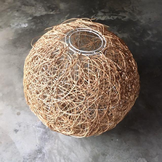 Beige Tan Natural Ball Spiral Light Cover