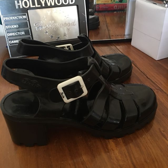 3df84a8c1ed Black Jelly Shoes