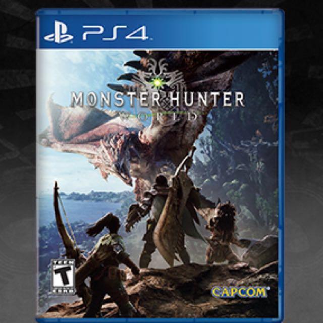 Brand new sealed Monster hunter world PS4 MHW, Toys & Games