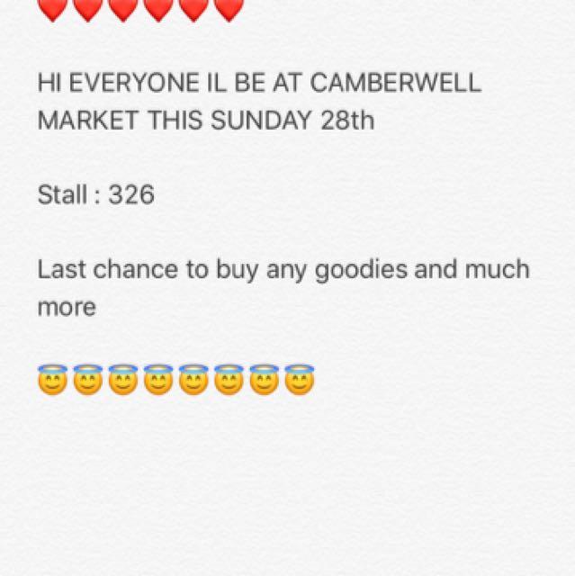 Camberwell market stall 28th jan