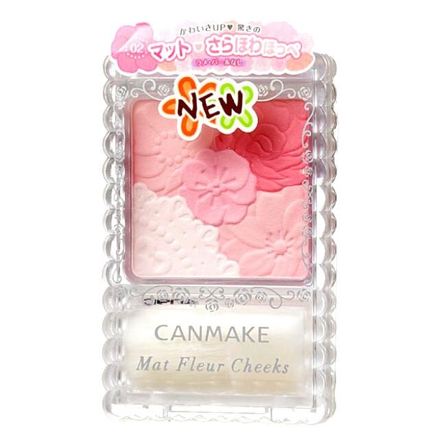 Canmake花漾戀愛修容組 霧面 花樣腮紅 日本 粉紅 蜜粉 粉撲