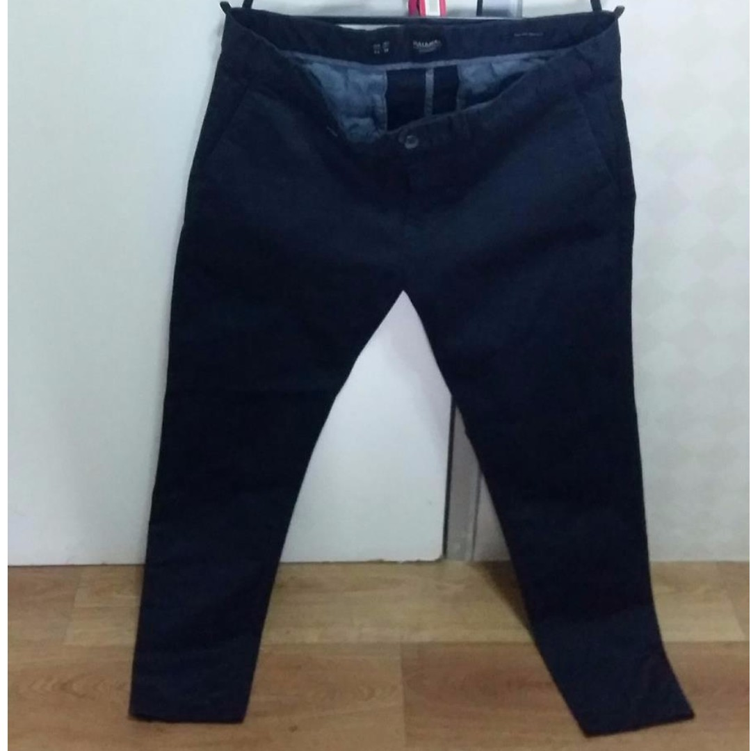 Celana Pull Bear Smart Skinny Navy Blue