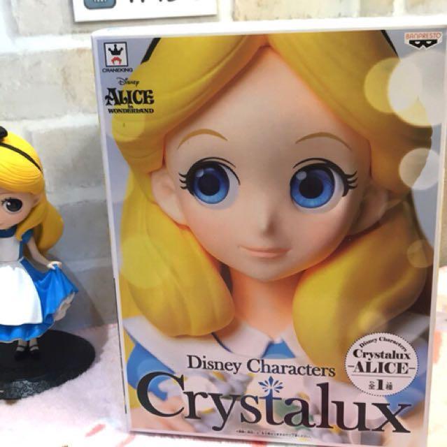日本帶回🇯🇵現貨日版愛麗絲Crystalux景品 迪士尼Disney Alice艾莉絲 BANRRESTO眼鏡社