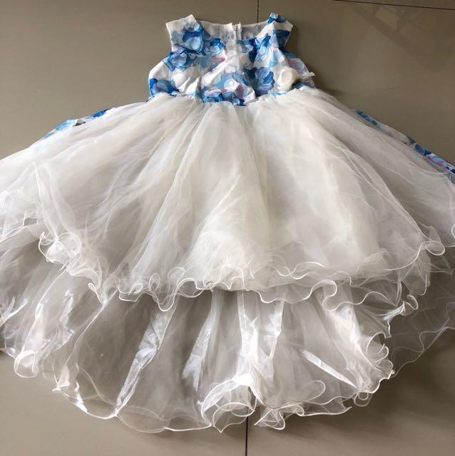 Dress blue white