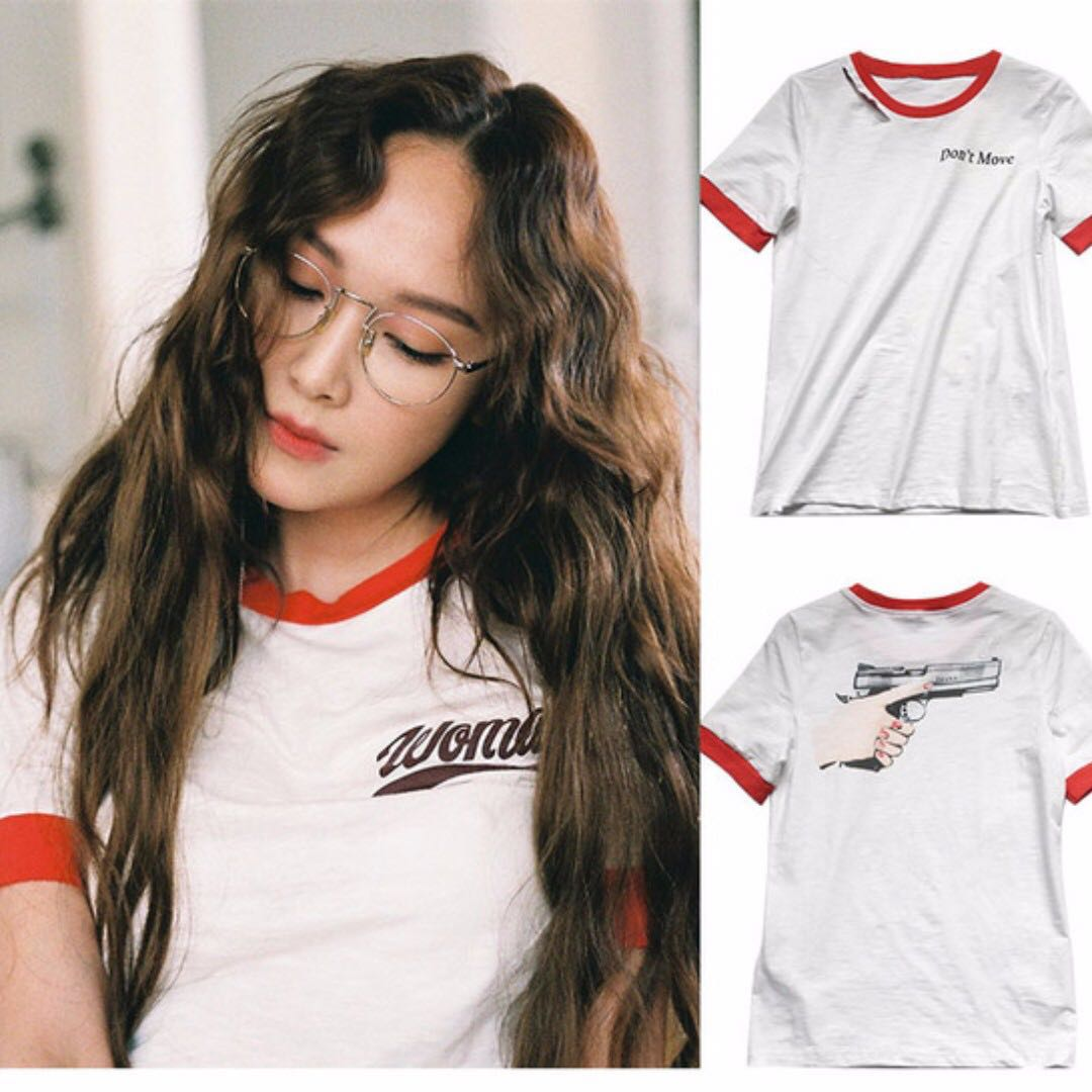 Fast Po Korean Jessica Jung Casual Summer Loose Prints Short Sleeve