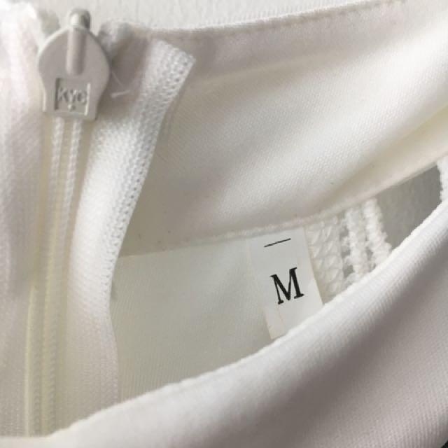 Flowy white dress