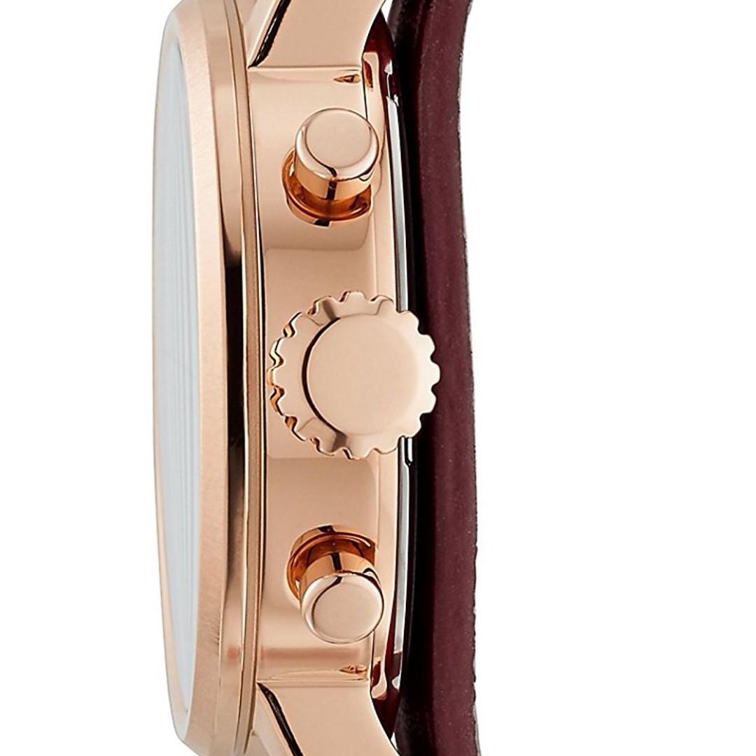Fossil Jam Tangan Wanita Es4121 Tailor Multifunction Wine Bordeaux Original Womens Es4114 Boyfriend Sport Chronograph Leather Watch Fesyen