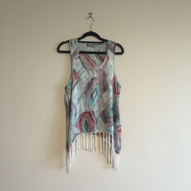 📮FREE POSTAGE📮Boho Festival Tank Top with Tassels