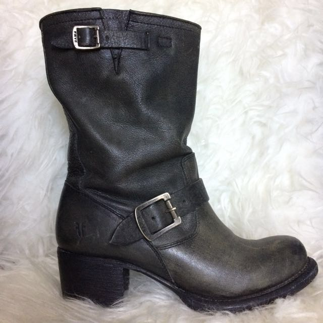FRYE Vera Short Leather Boots - 7.5