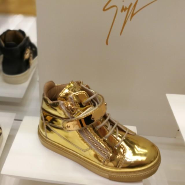 Giuseppe Zanotti Boys Gold Sneakers