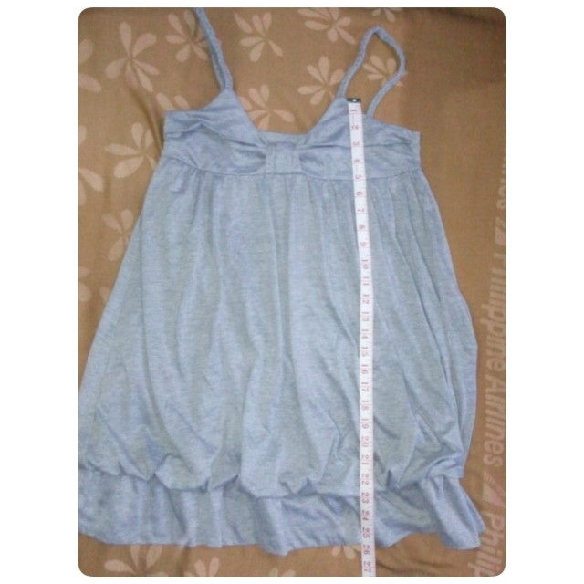 Gray Spaghetti Strap Mini Dress