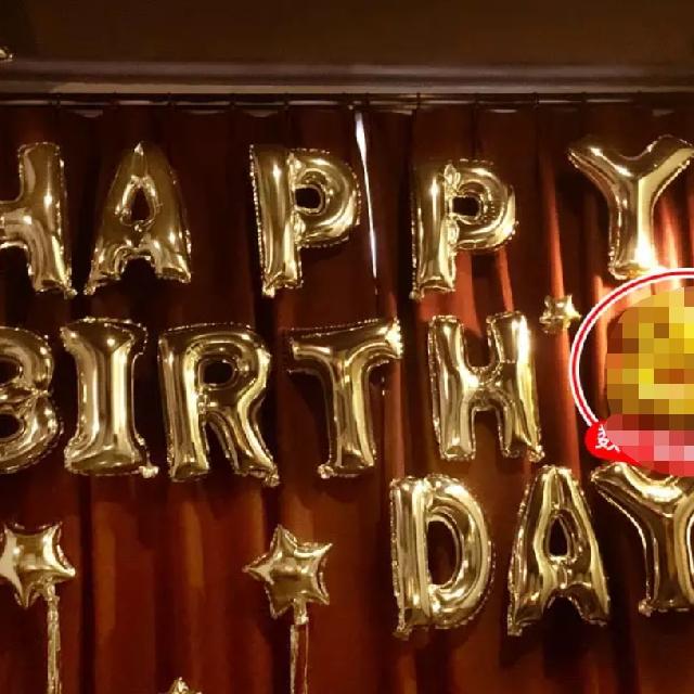 銀色Happy Birthday PARTY SET 氣球套裝
