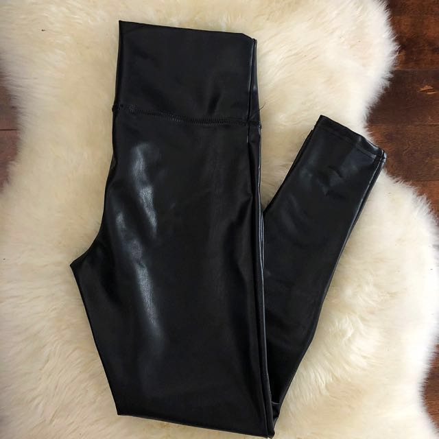 High waisted, Thick faux- leather pants