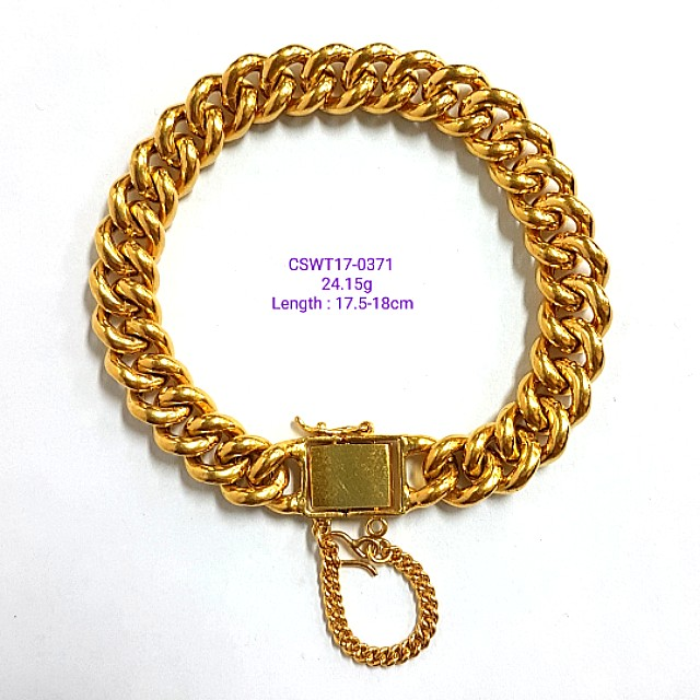 bracelet buy t goldfish crude pure jewelry li genuine female ya hollow shop gold chain