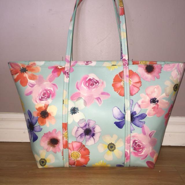 Indigo floral purse/bag