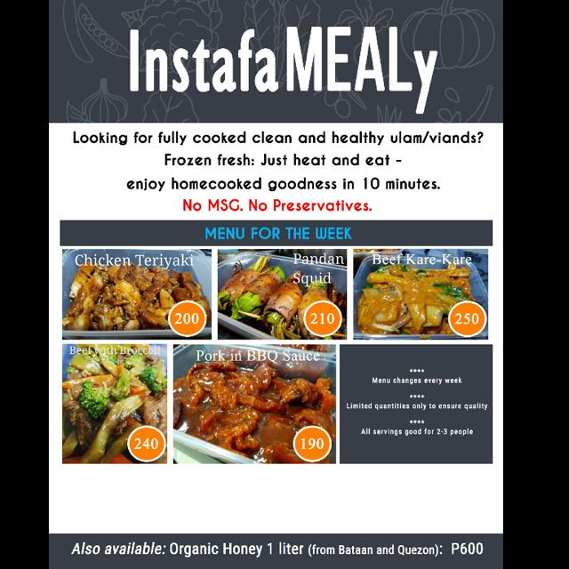 Instafamealy Heat-and-Eat Meals