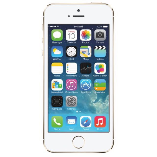 iPhone 5s Gold in color.