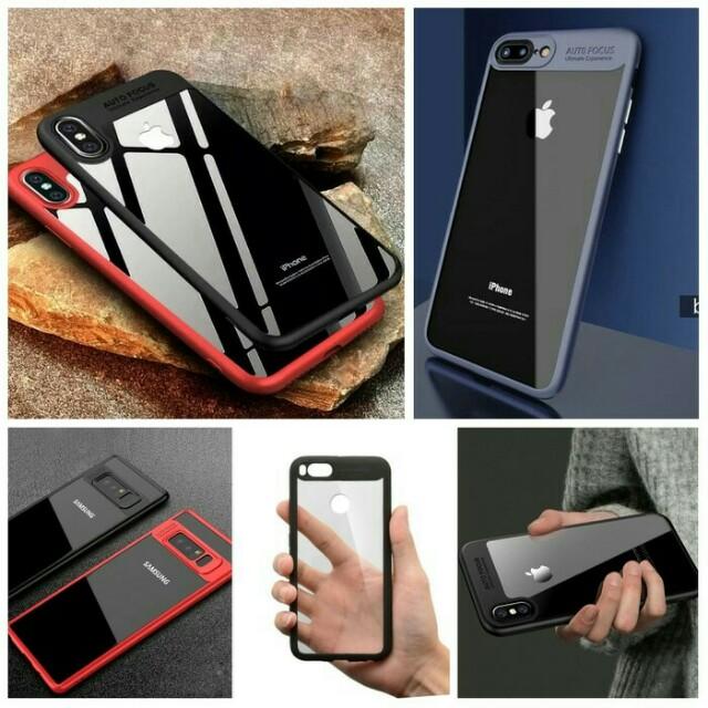 Iphone Case Acrylic AutoFokus Transparan