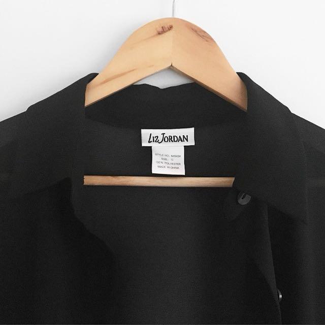 Liz Jordan black maxi cardigan