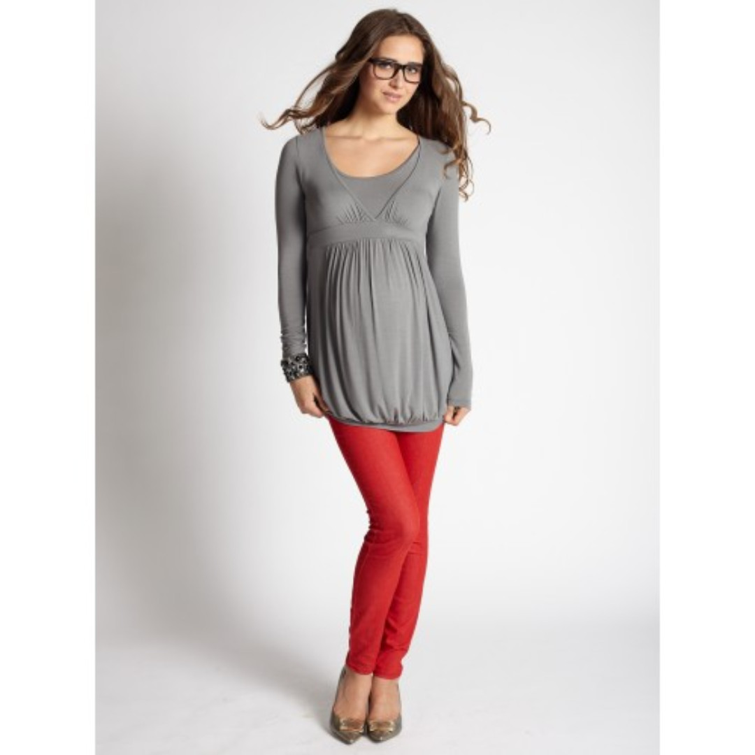 fa9ee08e017 Maternity & Nursing COCO ONO LONG SLEEVE TOP - MOONMIST, by MEV ...