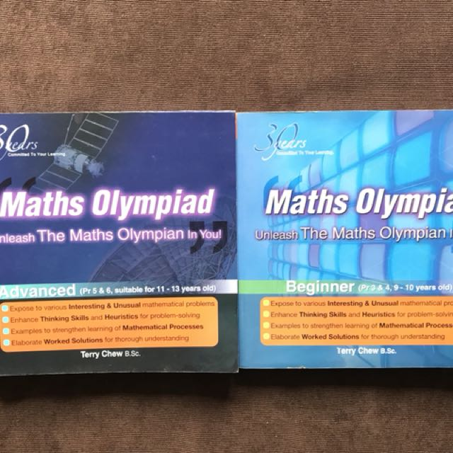 Maths Olympiad Books Primary 3, 4, 5,6, Books & Stationery ...