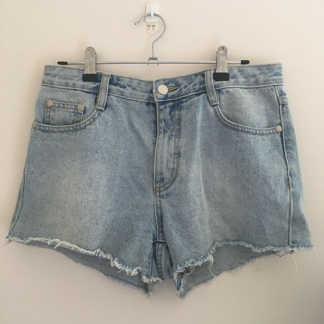 MINKPINK High waisted denim shorts size 10