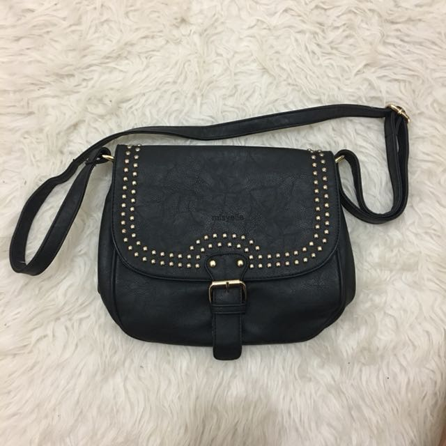 Misyelle black rivet bag