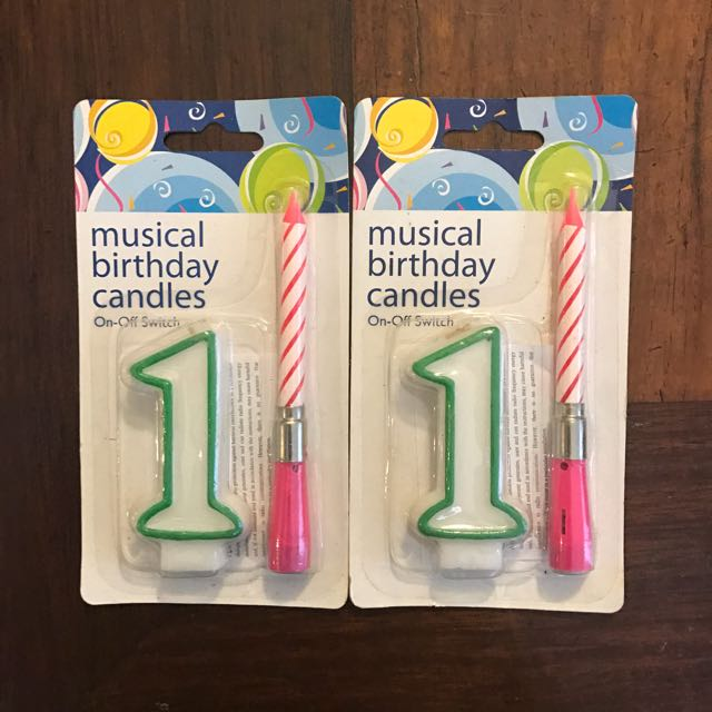 Musical Birthday Candles