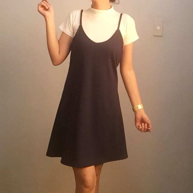 Navy Blue Terno Dress