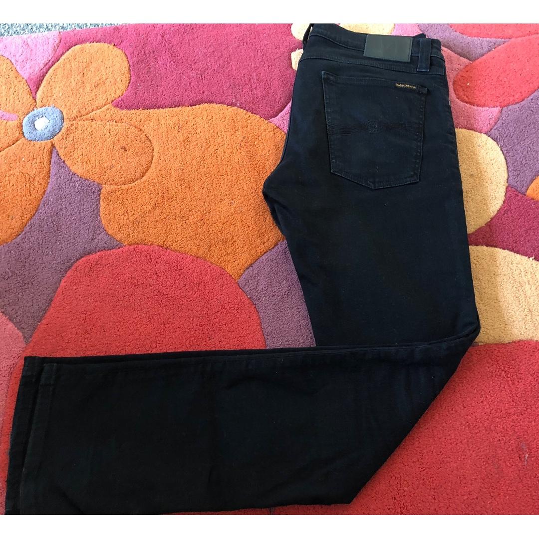 Nudie Jeans - 31/32 - Black Black -Tube Kelly