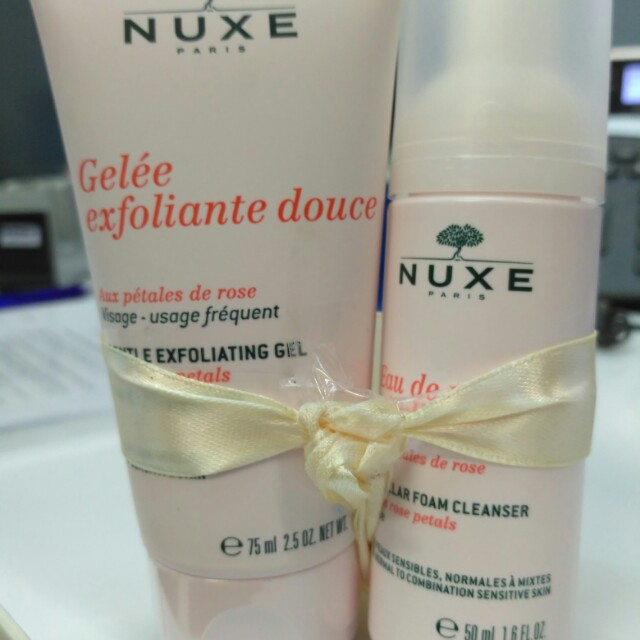 Nuxe Paket - Exfoliating Gel+Cleansing Foam