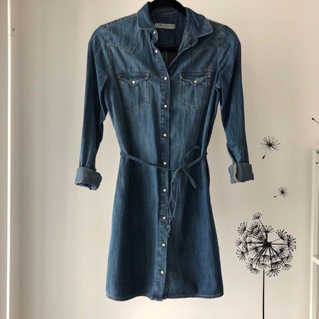 NWT Mavi Jeans Denim Shirt Dress Size XS
