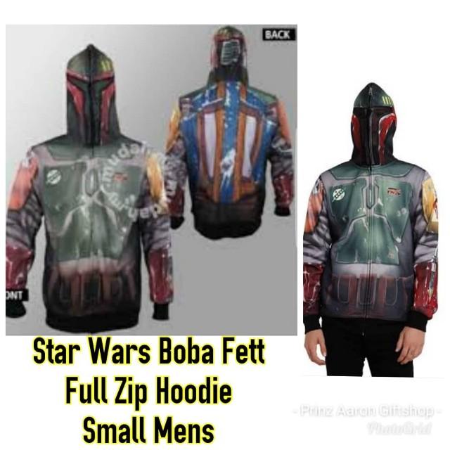 Official Licensed Star Wars Boba Fett full zipped hoodie