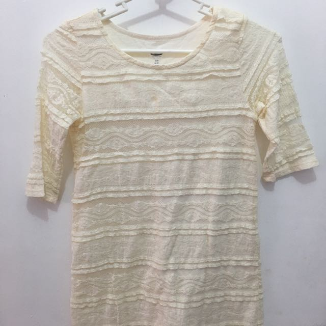 Old navy 3/4 lace blouse