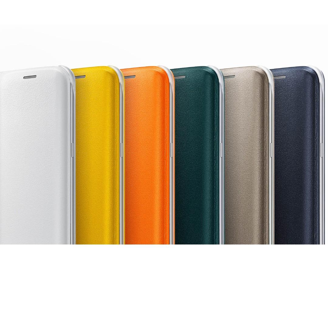the best attitude efb09 3a219 Original Samsung Galaxy S6 Edge Flip Wallet
