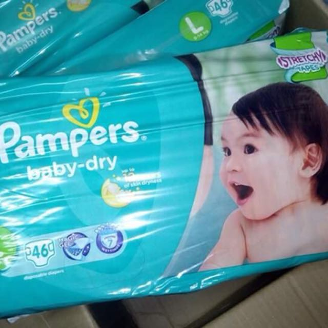 Pampers baby-dry (stretchy) X 46's