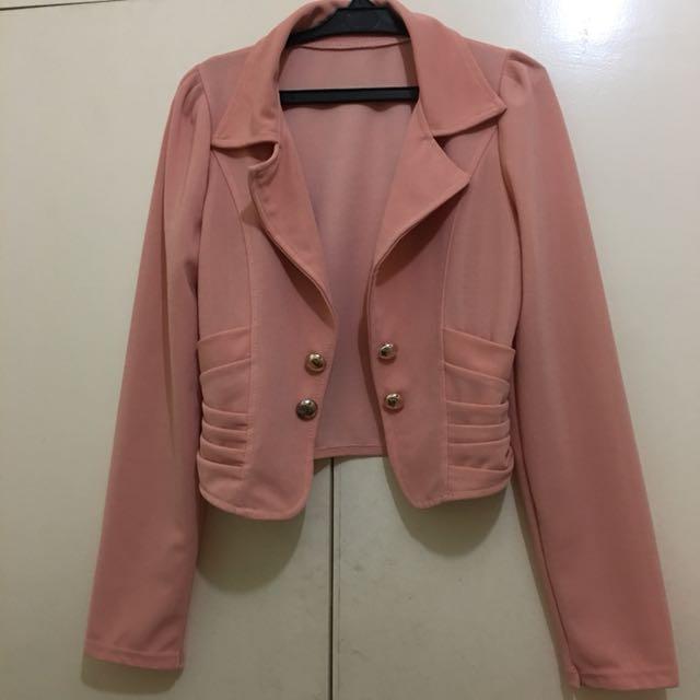 Pink office blazer