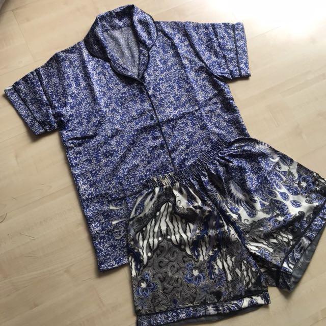 Piyama Sateen Batik [grosir] celana pendek