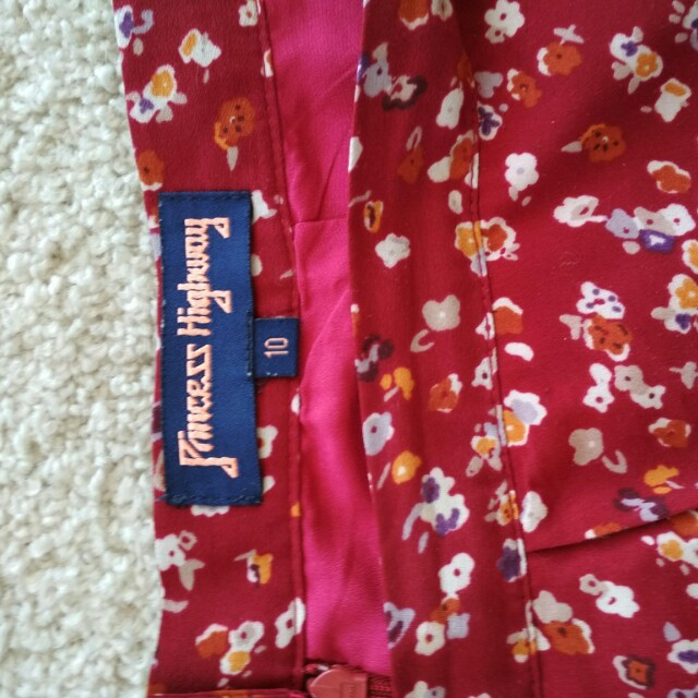 Princess Highway red floral skirt