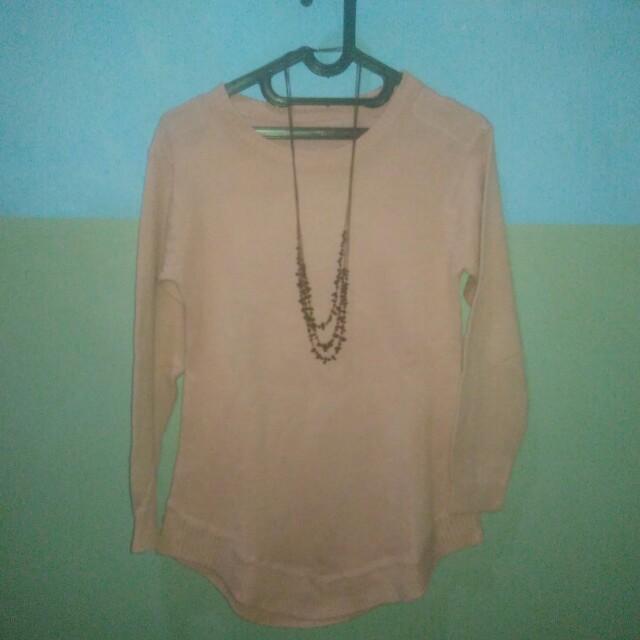 Rajut sweater pink